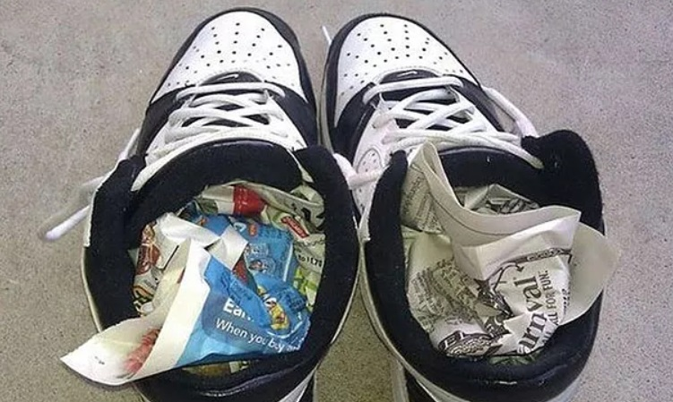 новая тесная обувь