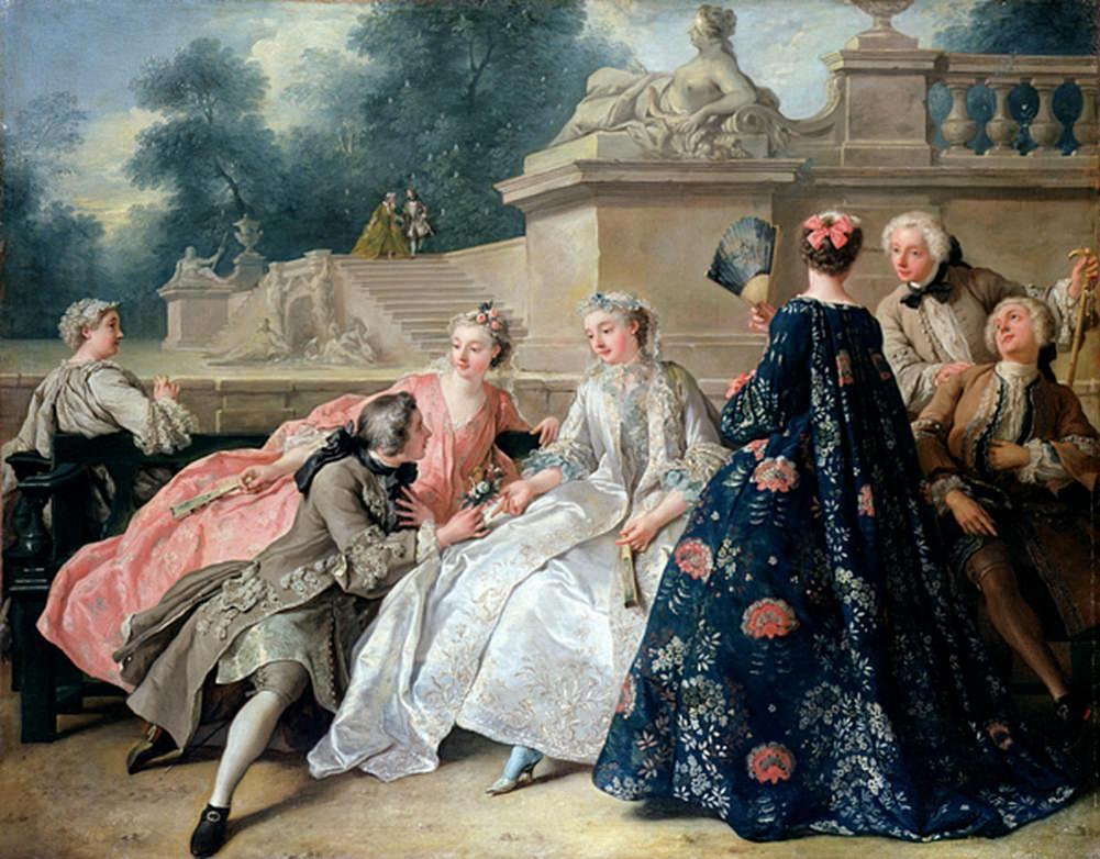Мюли на картине Жана-Франсуа де Труа